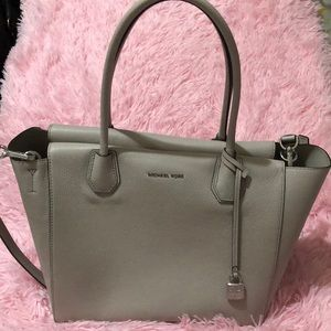 Cement colored Mercer Tote by Michael Kors